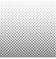 Monochrome stylized flower pattern - floral vector