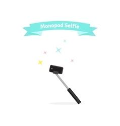 Monopod selfie concept - vector image vector image