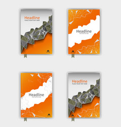 orange cover design set eps10 vector image