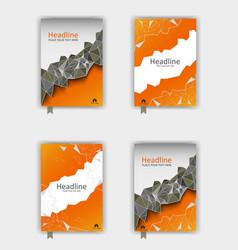 Orange cover design set eps10 vector