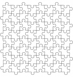 puzzles seamless template vector image
