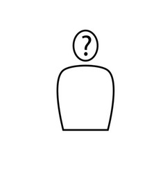 questioning person unknown sign icon vector image