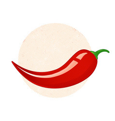 Retro of a chili peppers vector