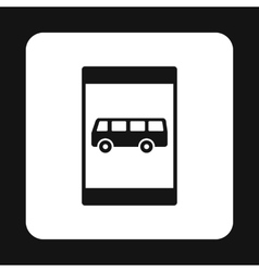 Sign bus stop icon simple style vector image vector image