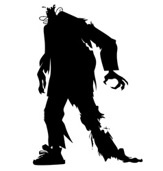 silhouette of a zombie without a head vector image