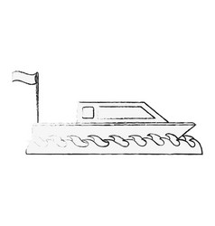 Small boat isolated vector
