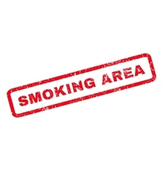 Smoking Area Rubber Stamp vector image vector image