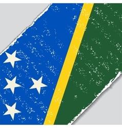 Solomon islands grunge flag vector