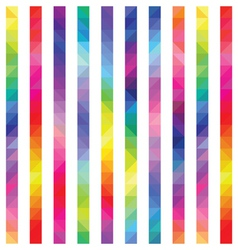 strips from color triangles a seamless pattern vector image