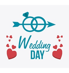 Wedding card design vector