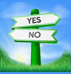 Yes or no sign concept vector