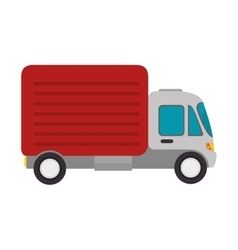 Truck cargo vehicle transport vector