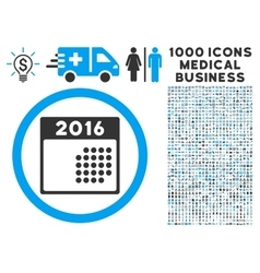 2016 month calendar icon with 1000 medical vector