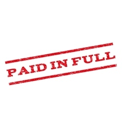 Paid In Full Watermark Stamp vector image