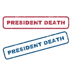 President death rubber stamps vector