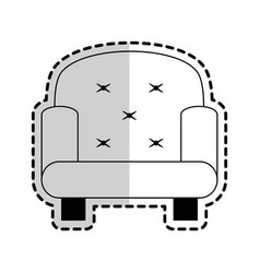 Sofa chair icon image vector