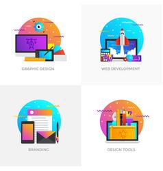 Flat designed concepts - graphic design web vector