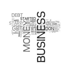 Is your business debt a bottomless pit text vector