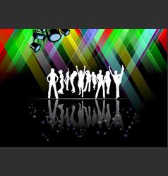 Eps 10 dance pole on black background vector