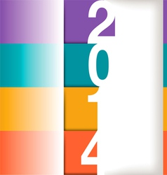 2014 Year Graphic vector image vector image