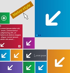 Turn to full screenicon sign metro style buttons vector