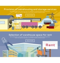Warehouse storage service product vector