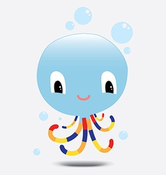 Blue octopus vector