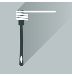 Flat icon with long shadow spaghetti on fork vector