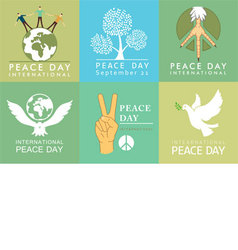 International day of peace symbols vector