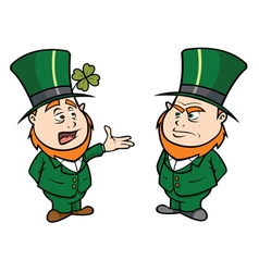 Leprechauns talking- vector