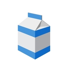 Milk packet on white vector