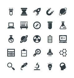 Science and technology cool icons 1 vector