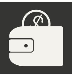 Flat in black and white mobile application wallet vector