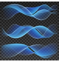 Abstract blue wavy background elements vector image vector image