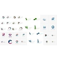 Abstract company logos mega collection vector