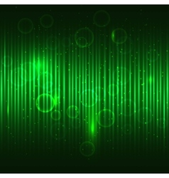 Abstract glowing green background vector image vector image