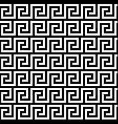 Ancient greek key pattern - seamless borders vector