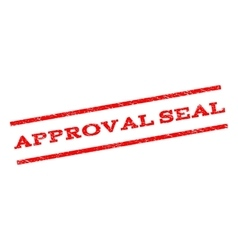 Approval Seal Watermark Stamp vector image vector image