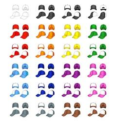cap templates vector image vector image