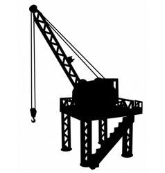 construction platform vector image