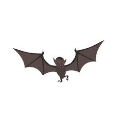 Cute cartoon halloween bat vector