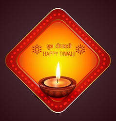Diwali background with diya vector