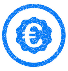 Euro reward seal rounded icon rubber stamp vector