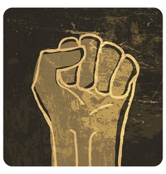 fist grunge icon vector image vector image