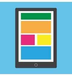 Flat style tablet vector image