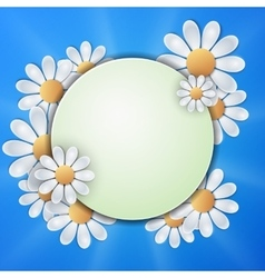 Floral invitation design with paper daisy flowers vector image vector image
