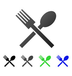 fork and spoon flat gradient icon vector image