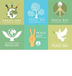 International Day of Peace symbols vector image