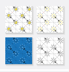 pattern bulbs vector image