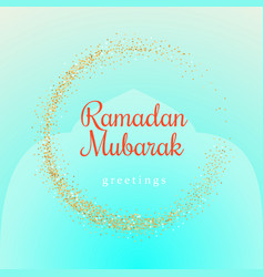 ramadan kareem with golden moon vector image vector image